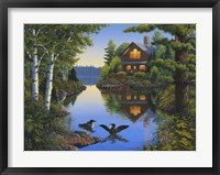 Lake Cabin Fine Art Print