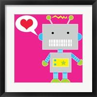 Robot - Pink Fine Art Print