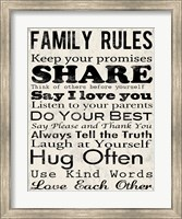 Family Rules 1 Fine Art Print