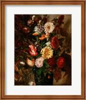 Flowers in an Earthenware Pot, 1847 Fine Art Print