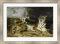 A Young Tiger Playing with its Mother, 1830 Fine Art Print
