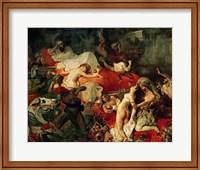 The Death of Sardanapalus, 1827 Fine Art Print
