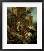 Rebecca Raped by a Knight Templar during the Sack of the Castle Frondeboeuf, 1858 Fine Art Print