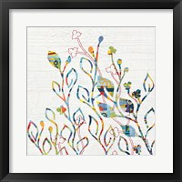 Rainbow Vines with Flowers Fine Art Print