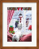 Westie At Window Fine Art Print