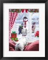 Westie At Window Fine Art Print