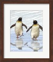 Dancing Penquins Fine Art Print