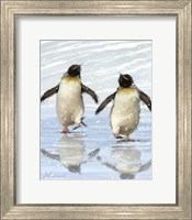 Dancing Penquins Fine Art Print