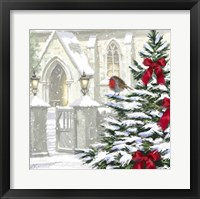 Robin By Church Fine Art Print