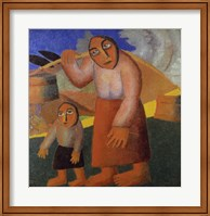 Peasant Woman with Buckets Fine Art Print