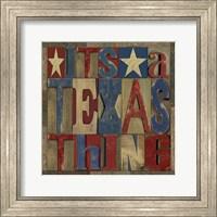 Texas Printer Block III Fine Art Print