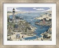Lost Bay Lighthouse & Fishing Village Fine Art Print