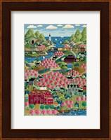 Cherry Bloom Hills Fine Art Print