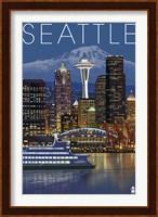 Seattle At Night Fine Art Print