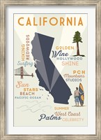 California State And Text Fine Art Print