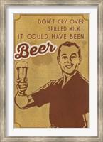 Spilled Milk And Beer Fine Art Print