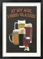 I Need Glasses Of Beer Fine Art Print