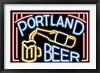 Portland Beer Fluorescent Sign Fine Art Print