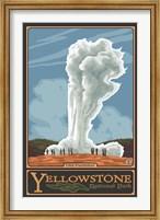 Old Faithful Yellowstone Park Ad Fine Art Print