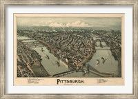 Pittsburgh Map, 1902 Fine Art Print