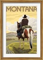 Montana Cowboy On Hourse Fine Art Print