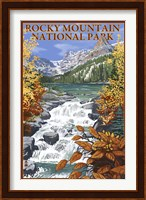 Rocky Mountain Park Waterfall Ad Fine Art Print