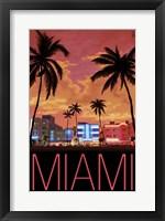 Miami City Palms Scene Fine Art Print
