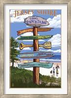 Jersey Shore Beach Signs Fine Art Print
