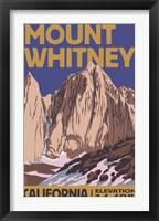 Mount Whitney Elevation Fine Art Print