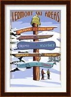 Vermont Ski Areas Signs Fine Art Print