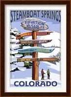 Steamboat Springs Colorado Signs Fine Art Print