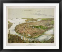 Boston From the Air, 1877 Fine Art Print