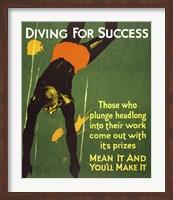 Diving for Success Fine Art Print