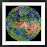 Hemispheric View of Venus Fine Art Print