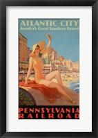 Atlantic City Bathing Pa Line Fine Art Print