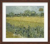 View of Arles with Irises Fine Art Print