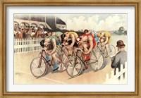 Bicycle Race Scene, 1895 Fine Art Print
