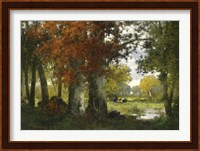 Working In The Forest Fine Art Print