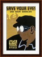 WPA Save Your Eyes Fine Art Print