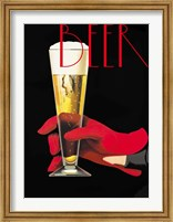Red Glove Beer Fine Art Print