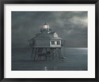 Moonlight At Middle Bay Light Fine Art Print