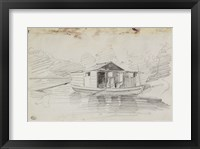 The Houseboat Fine Art Print
