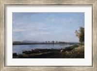 The Seine At Bezons, c. 1851 Fine Art Print