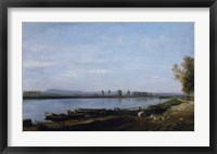 The Seine At Bezons, c. 1851 Fine Art Print