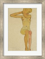 Seated Female Nude With Raised Right Arm, 1910 Fine Art Print