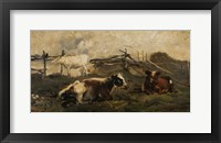 Landscape With Cows Fine Art Print