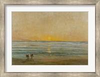 Sunset With Fishermen Fine Art Print