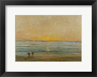 Sunset With Fishermen Fine Art Print