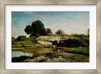Dam At Optevoz Fine Art Print