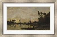 Setting Sun Over The Oise, 1865 Fine Art Print
